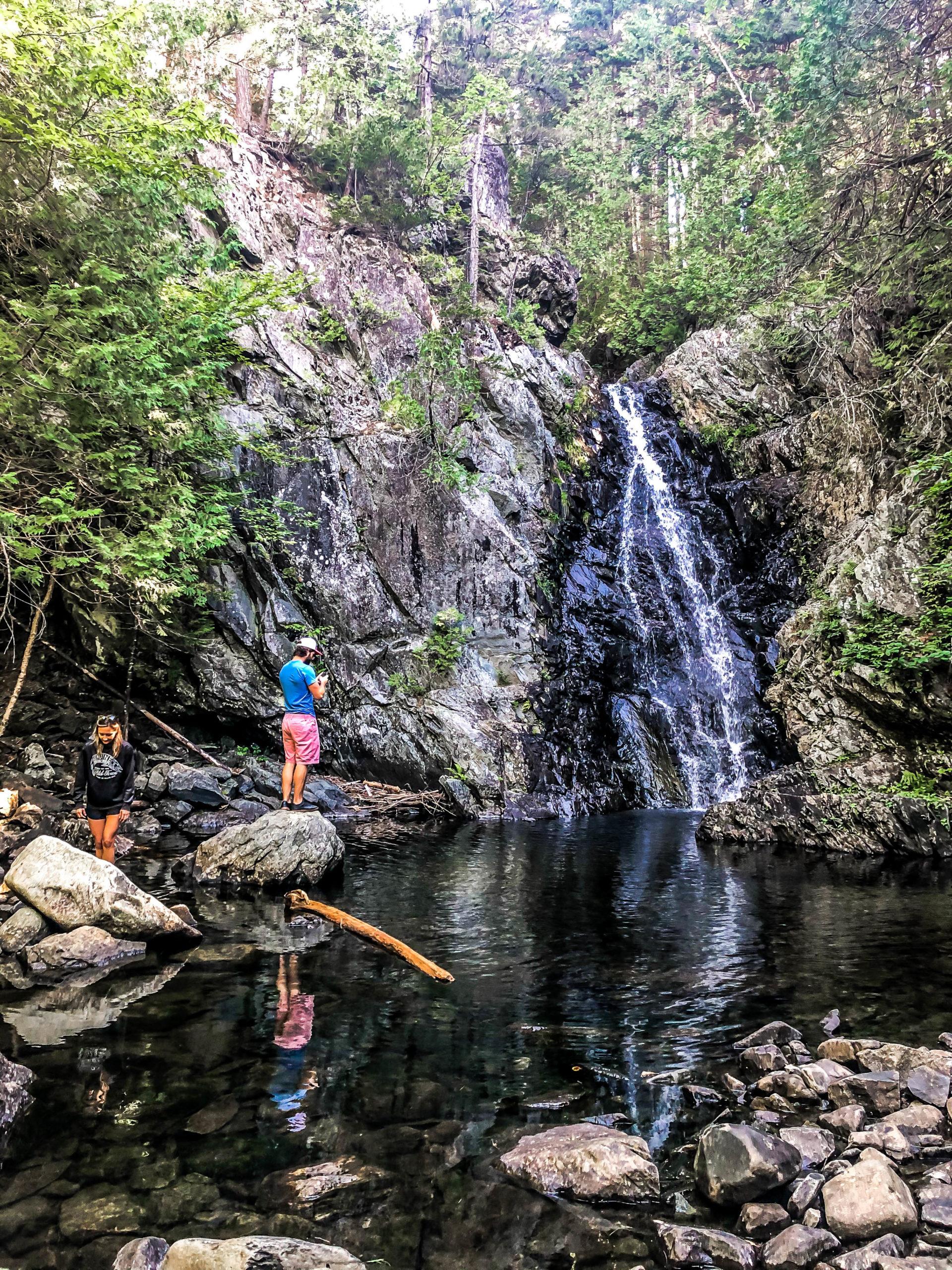 Upper Poplar Falls with Friends